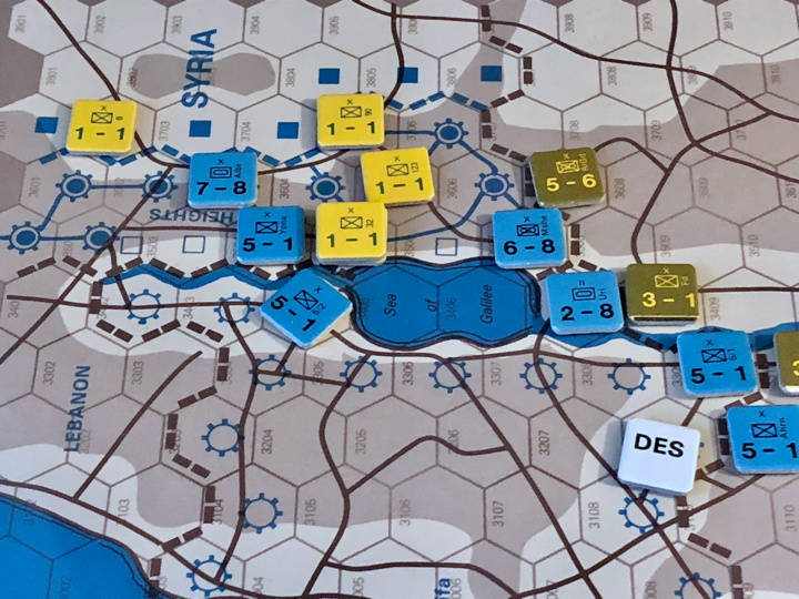 Syrian and Jordanian fronts, Turn 4, 1967 scenario, Sinai (SPI)