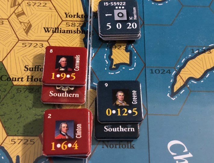 End of Empire, Turn 15, Greene routed in Norfolk