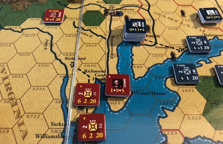 End of Empire, Turn 17, Cornwallis near Richmond