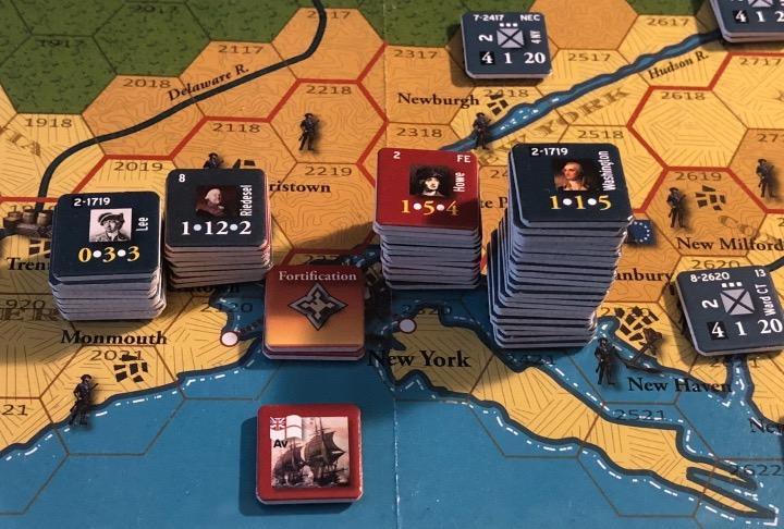 End of Empire, Turn 9, British disposition around New York City