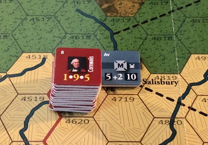 End of Empire, Turn 9, Cornwallis stymied outside Salisbury
