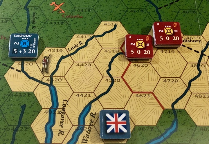 End of Empire, Turn 12, South Carolina Rangers alone in the wilderness