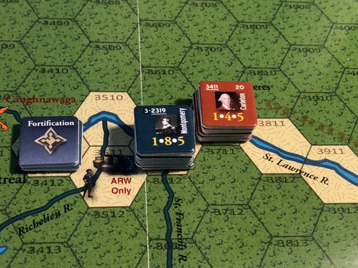 End of Empire, Turn 7, Montgomery and Carleton face off outside Montreal