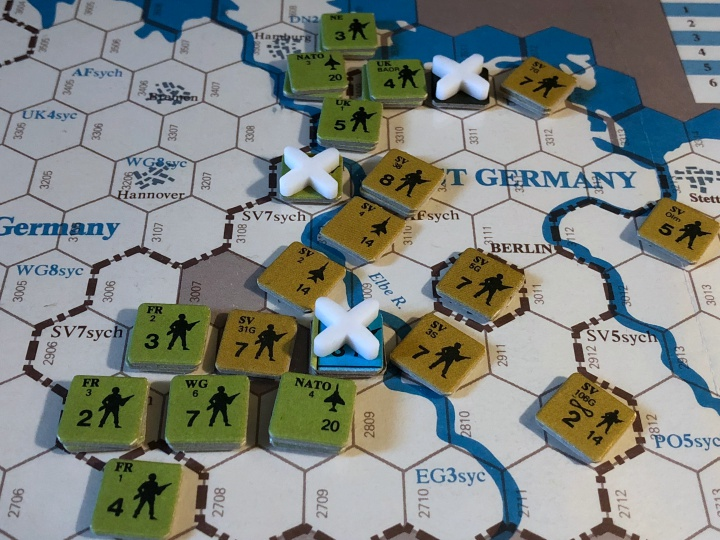Revolt in the East, Soviet assaults against initial NATO intervention