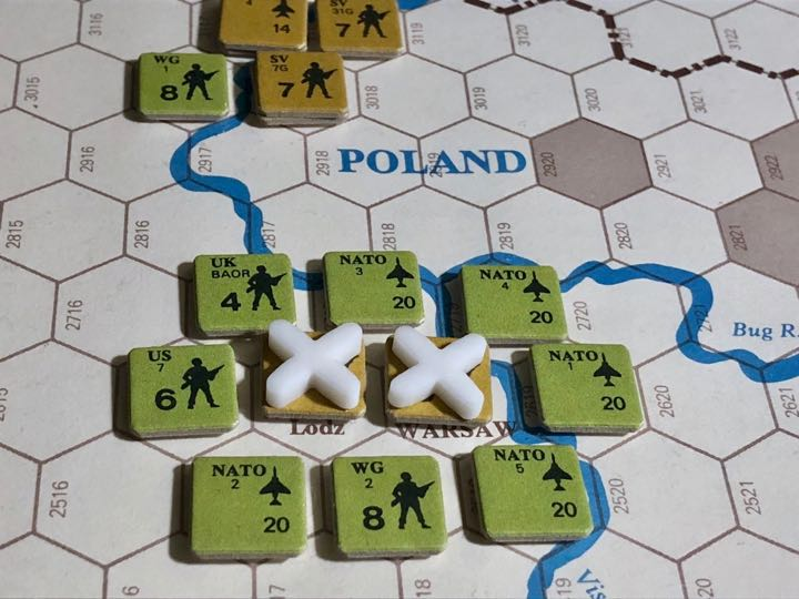 Revolt in the East, Turn 12, Last gasp NATO attacks into Lodz and Warsaw