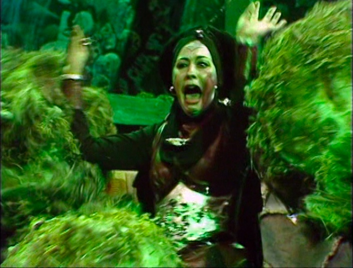 Adrasta being smothered by wolf weeds prior to Erato crushing her
