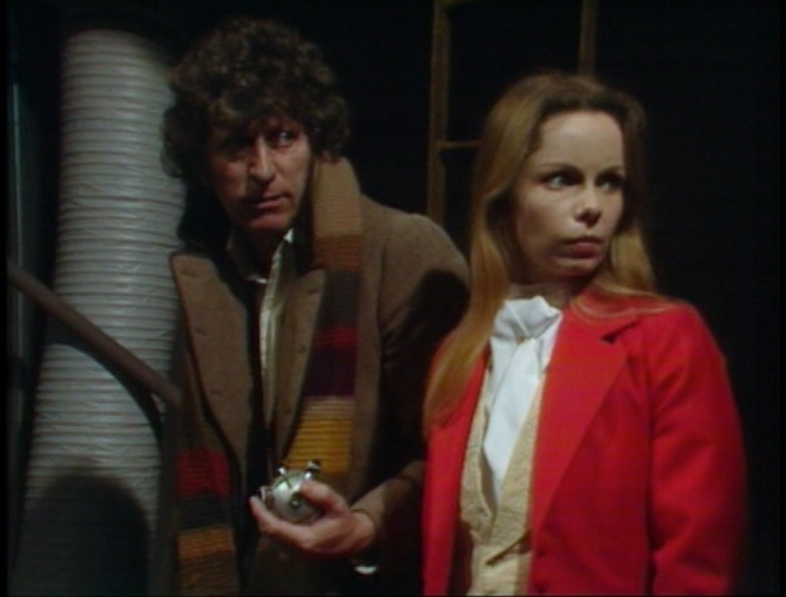 Tom Baker and Lalla Ward as the Fourth Doctor and Romana