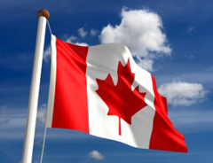 Canada flag low taxes economic success