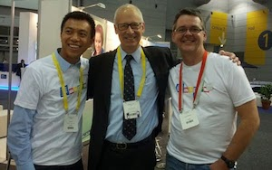Suan Yeo, Alan November and I at EduTech 2013
