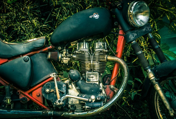 The characterful Royal Enfield