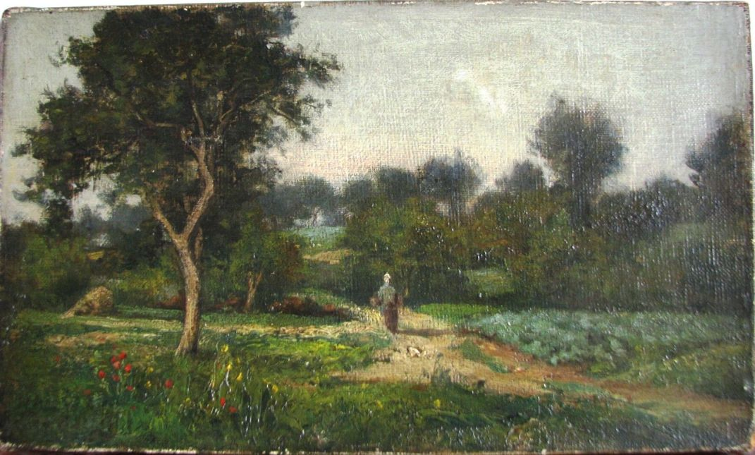 French Oil on Canvas - 19th Century Oil on Canvas - 10 x 14