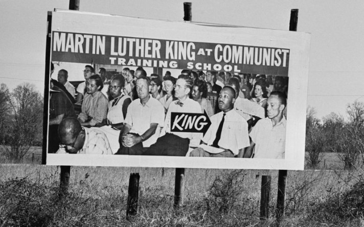 Anti-Civil Rights MLK billboard by John Birch Society