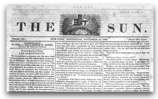 New York Sun Great Moon Hoax