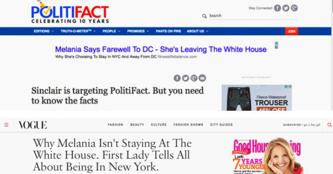 politifact fake news advertising