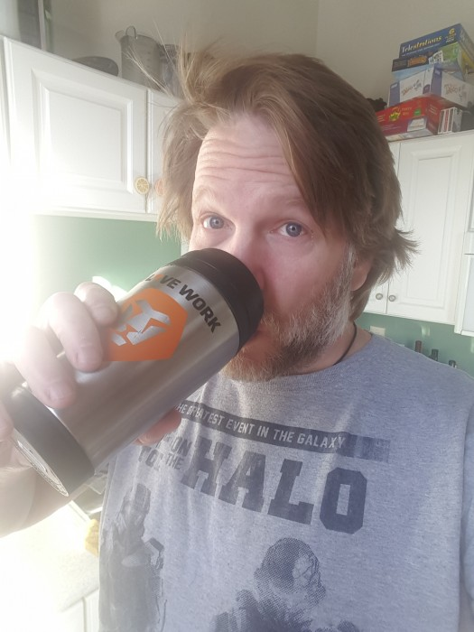 Chris Brogan and his Workfront.com Mug