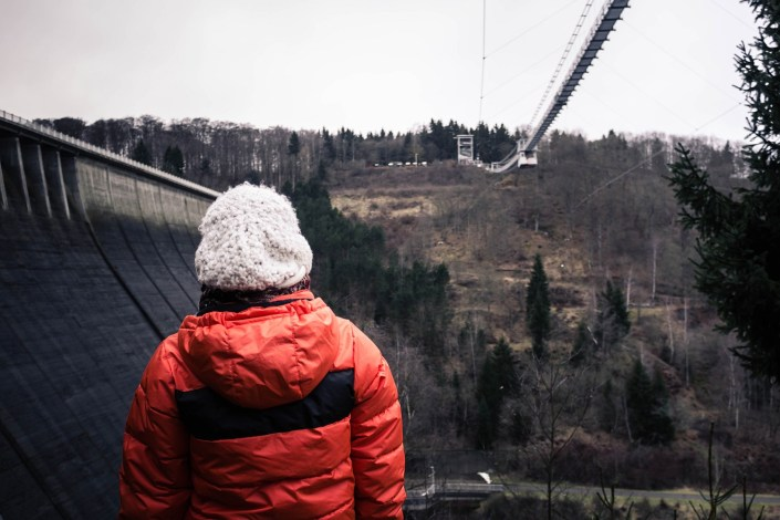 Harz im Winter Rappbodetalsperre