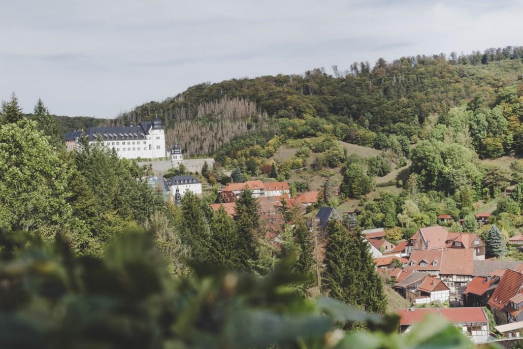 Ausblick auf Stolberg im Harz
