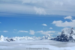 Above the clouds at Schilthorn