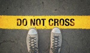 Do not cross the line