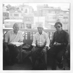 From left to right : Bijay , Hom Bahadur Ghandarva , Kiran .