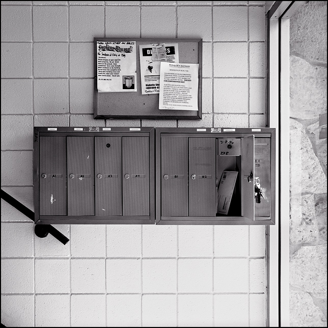 Mailboxes In An Apartment Building In Waynedale