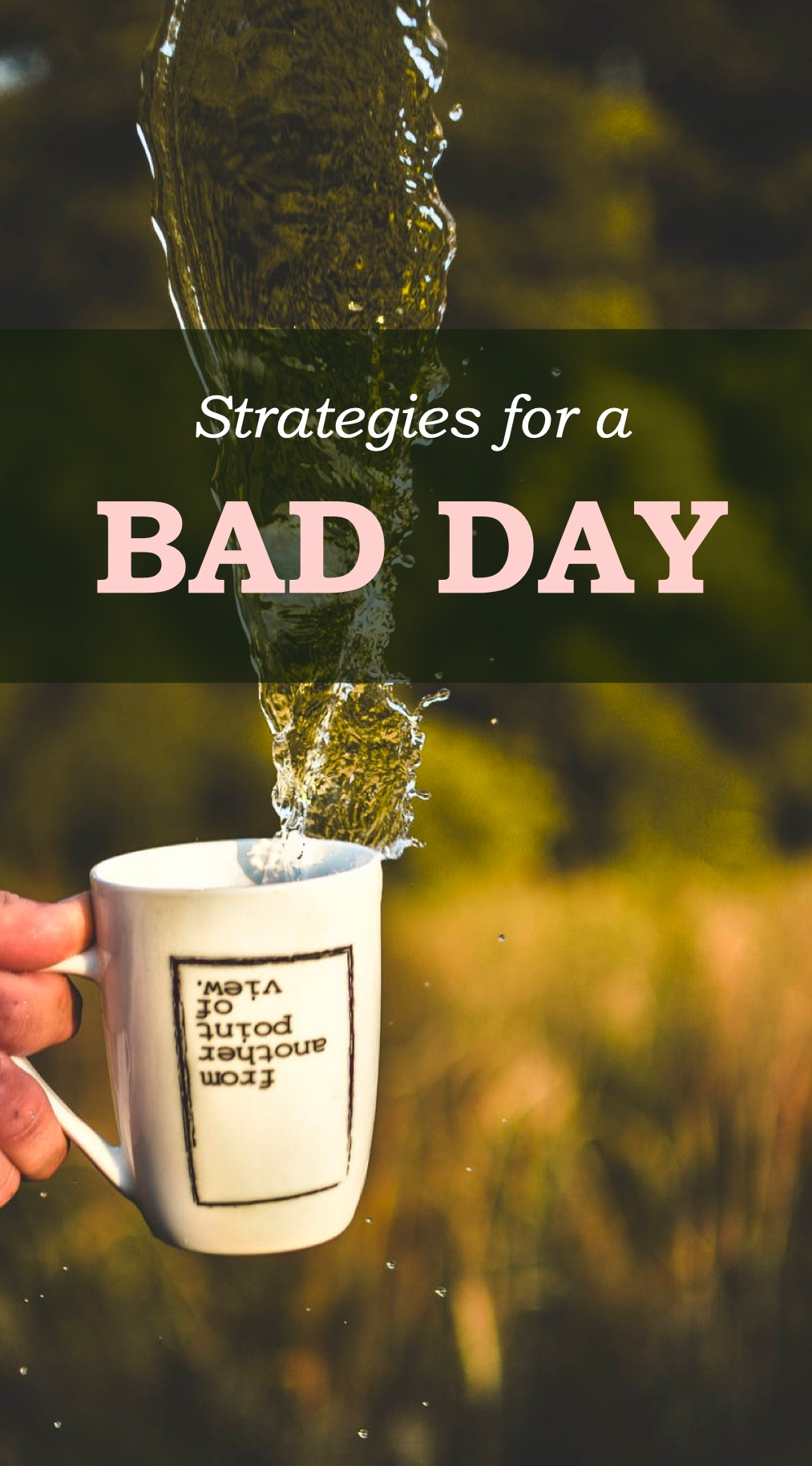 Strategies for a Bad Day Pinterest Pin