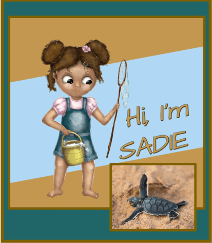 Meet Sadie, a determine young girl, out to save sea turtles