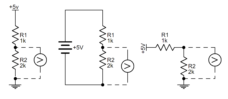 hight resolution of voltage divider schematic