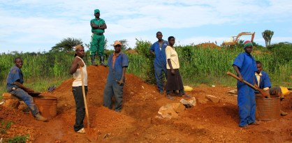 This team will produce around 1kg of coltan a day (worth about $200), earning them a couple of dollars each, a little more than a day in the fields