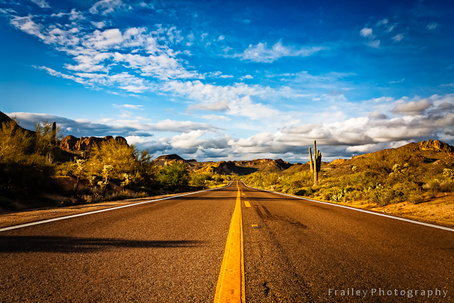 Highway  Arizona Photographer  Chris Frailey Photography