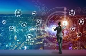 Woman leading digital transformation