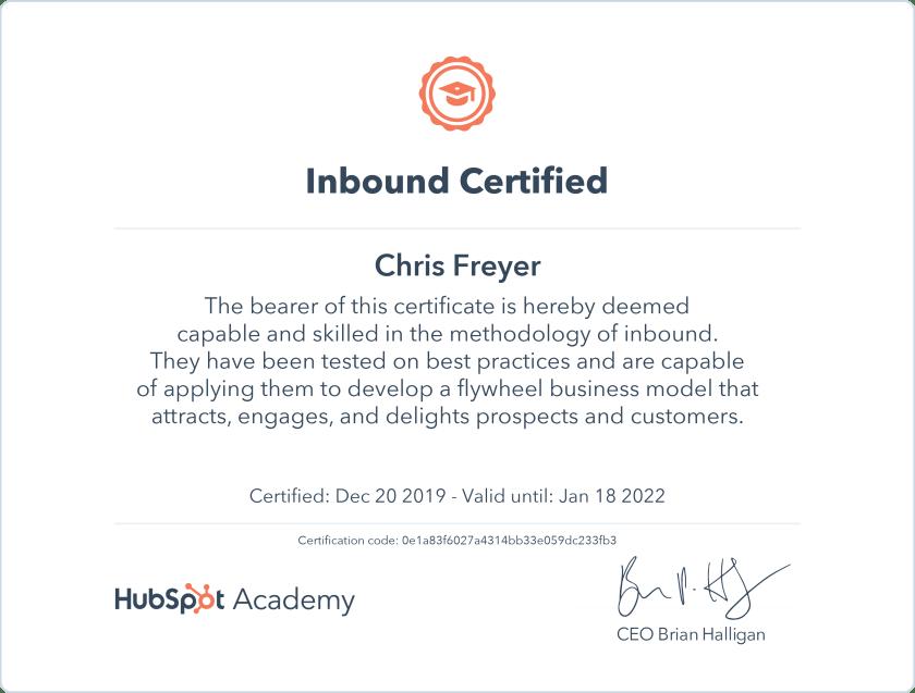 Indound Certified-Chris-Freyer