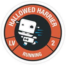 Running badge from Fitocracy