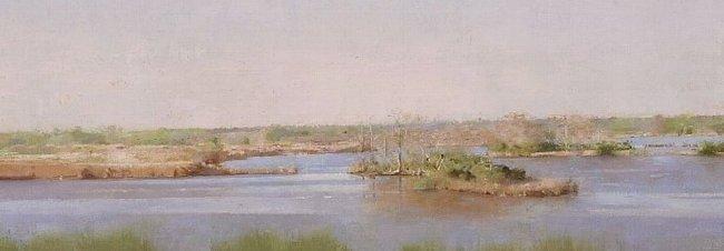 Christopher Gallego, Artist | Image title: Lake Clara, Richmond Hill, GA, detail