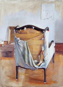 Contemporary Painter Christopher Gallego,America,1959-Painting- Studio Chair