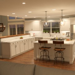 Kitchen Upgrade Green Countertops Chris Gallop 3d Artist After