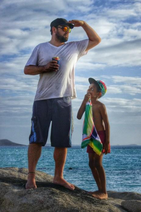 DOP Brad Francis and a little friend on Badu Island, 2014