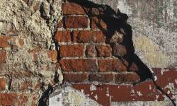 Crumbling brickwork