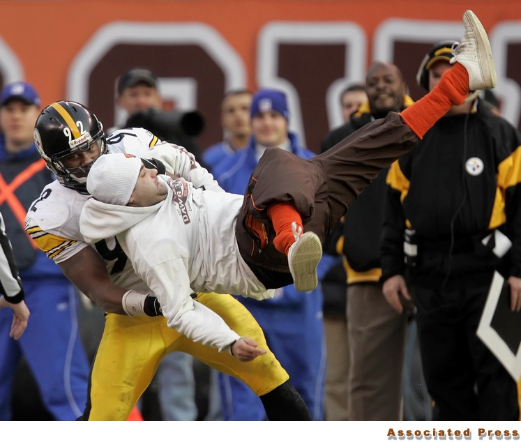 One of James Harrisons Most Memorable Moments, Tackling A Cleveland Browns Fan Crazy Enough To Run On The Field