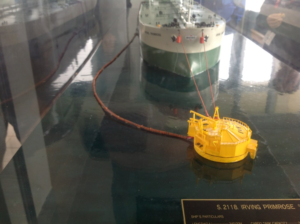Model of Irving Cannaport facility for off-loading LNG