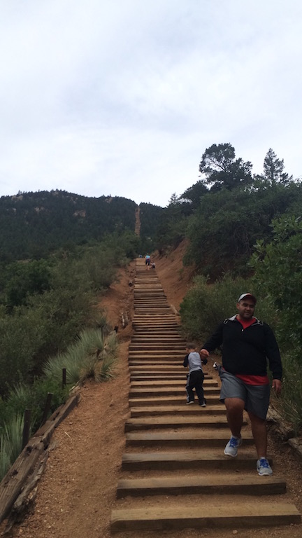 Manitou Springs Incline - The view from 250m (looking up)