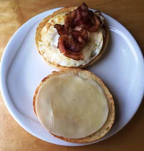 Highwheeler Cafe - Breakfast Bagel with Cheese and Bacon
