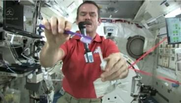 Chris Brushes His Teeth in Space