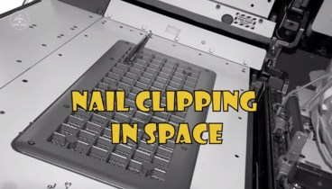 Chris Nail Clipping in Space