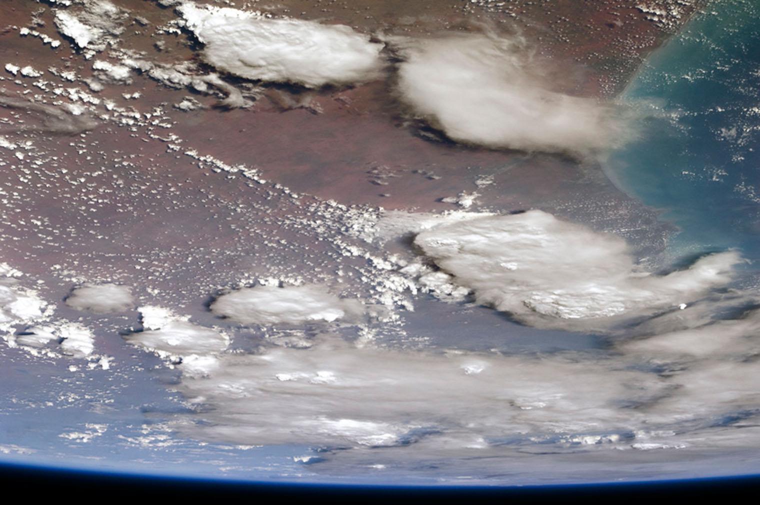 Smoke clouds, Australia