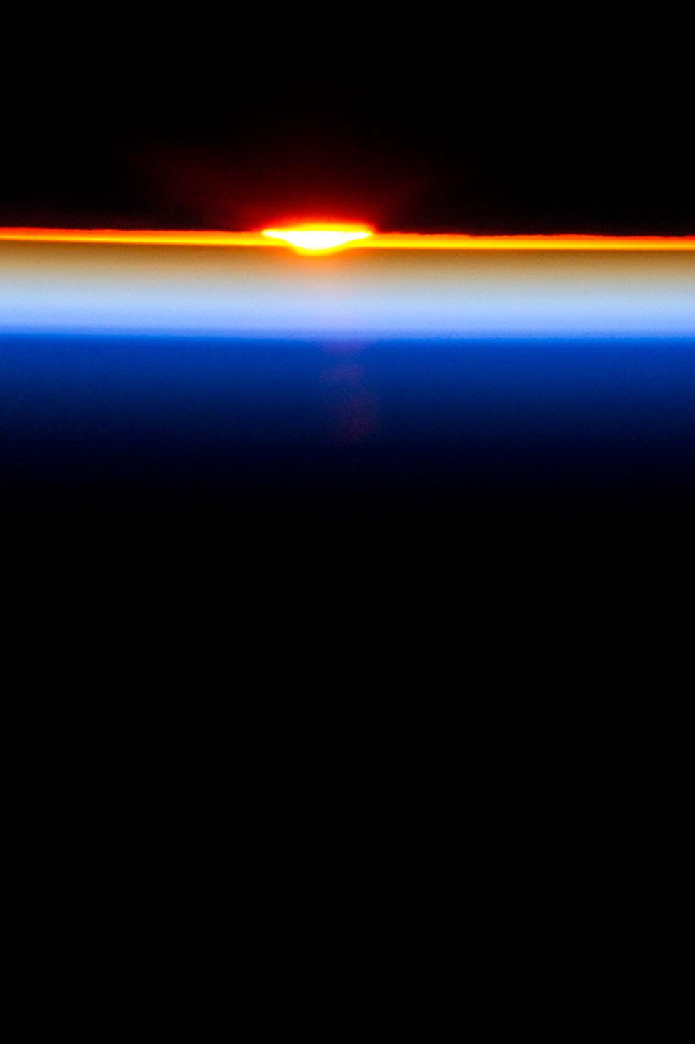 Sun crosses the horizon