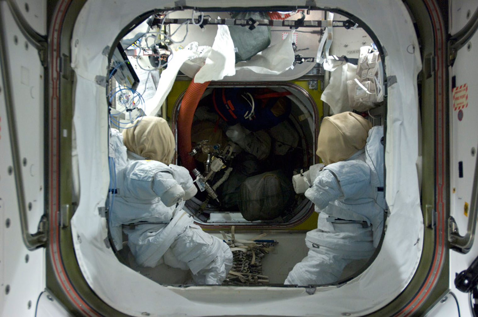 Two spacesuits