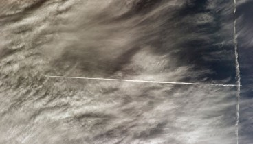 Contrails, as-seen from orbit