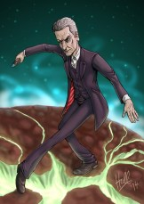 Peter Capaldi as The Doctor. 23rd August 2014