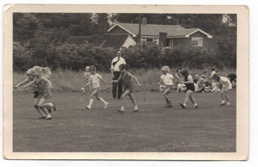 egg and spoon race chrishall school 1970